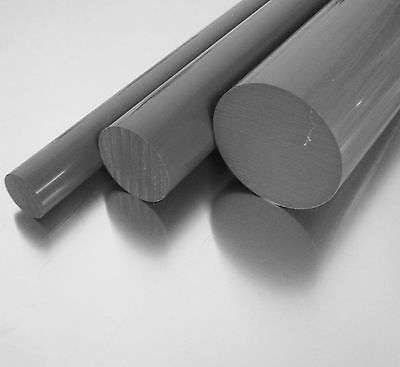 L: 1000mm PVC-U Kunststoffstab auf Zuschnitt PVC Rundstab grau /Ø 15mm 100cm