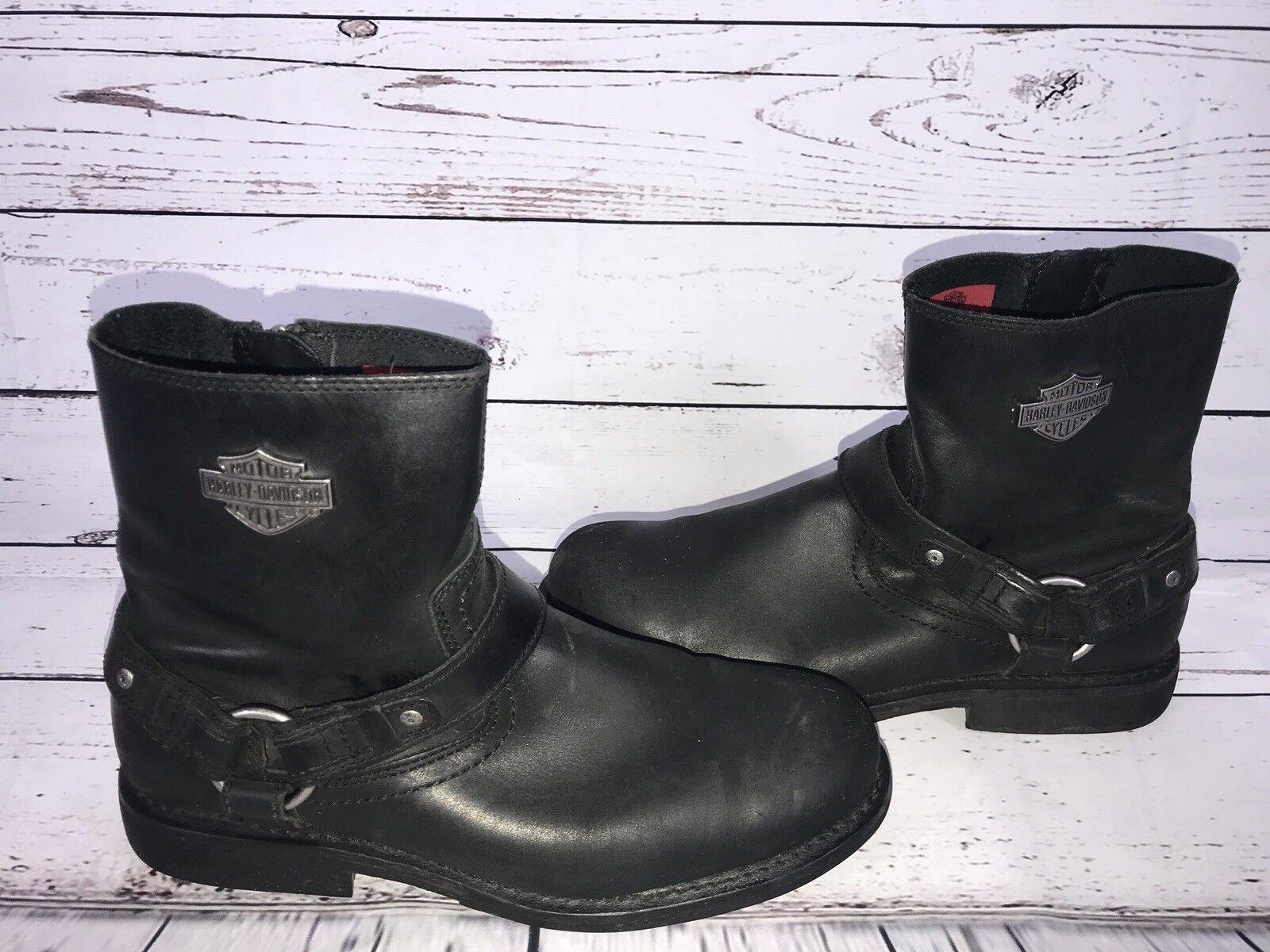 les chaussures noires ou cycle les de harley - davidson, les cycle bottes taille 10,5 m au viêt nam 2f3d97