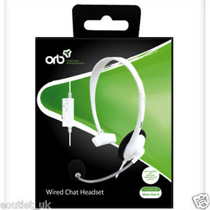 Official-ORB-Wired-Chat-Headset-for-Microsoft-XBox-ONE-S-X1-White-BRAND-NEW