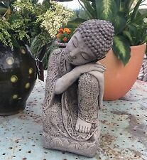 STONE GARDEN SLEEPING LOTUS BUDDHA  STATUE ORNAMENT 1