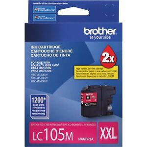 NO-BOX-NEW-Brother-Genuine-LC105MXXL-Super-High-Yield-Magenta-Ink-Cartridge