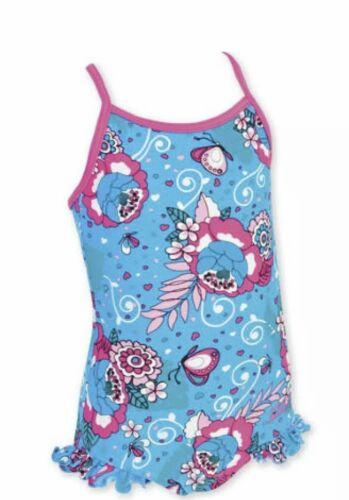 Zoggs Filles Pretty Bay incurvées Natation Costume ~ 12-18 18-24 2-3 3-4 4-5 5-6