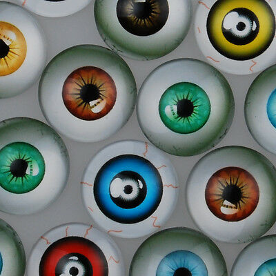 Eye of the Devil Pattern Cabochons Photo Glass Cabochons Dome Cameo Jewelry DIY