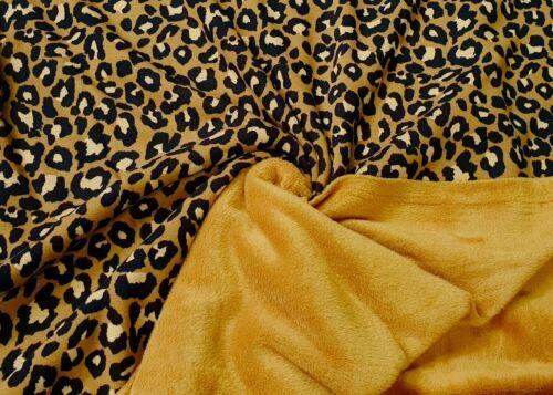 Alpenfleece Doubleface Alpen Fleece Sweat Shirt Stoffe 2 Seitig Leopard 12471