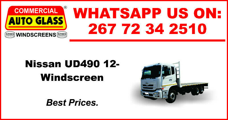 Windscreen For Nissan UD490 12 For Sale.