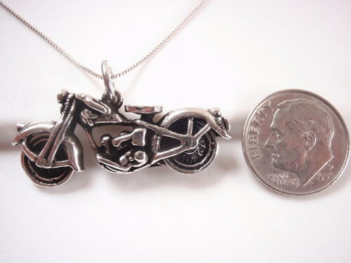 Motorcycle Necklace Bike Weighs a Heavy 7.3 Grams 925 Sterling Silver