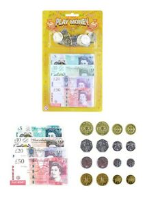 Kids-Play-Fake-Pretend-Money-Toy-Cash-5-10-20-50-Note-COINS-T09378