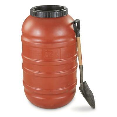 Military Surplus Water Storage 58-Gal Food Grade Barrel Waterproof  Orange U.S
