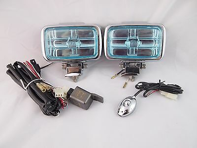 UNIVERSAL FORD GMC CHEVY DODGE HALOGEN FOG LIGHTS SET PAIR BULBS HARNESS