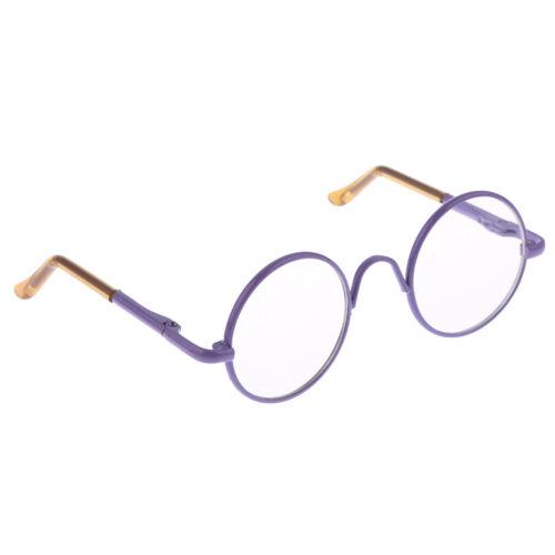 10 Colors Round Metal Frame Clear Lens Eyeglasses Eyewear for 12/'/' Blythe Dolls