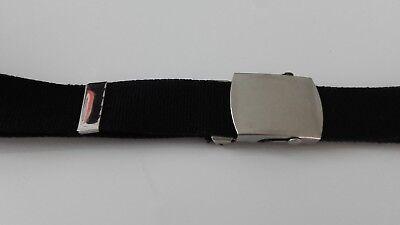 Neu! KindergÜrtel Stoffgürtel Jungen Mädchen Gürtel Schwarz Für Jeans Hose üPpiges Design