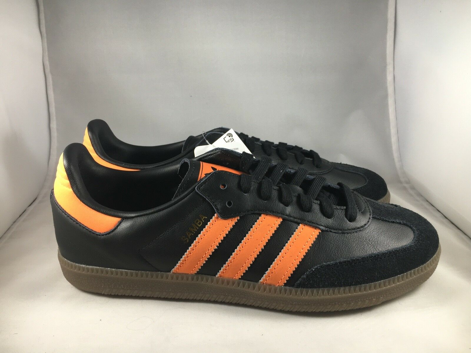 Adidas Adidas Adidas Samba OG Mens Size B75804 Black orange gold 5b0b89