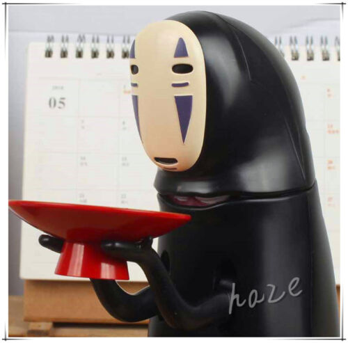 Coin Bank Spirited Away Anime Figure No-Face Man Kaonashi Music Piggy Bank New