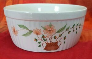 Vintage-Retro-Countryside-Collection-Stoneware-Large-Souffle-Baking-Round-dish