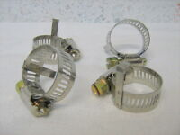 Barbed A/c Fitting Hose Clamps For Push On Fittings W/ Guide Bar 6-8 Hose 4 Pc