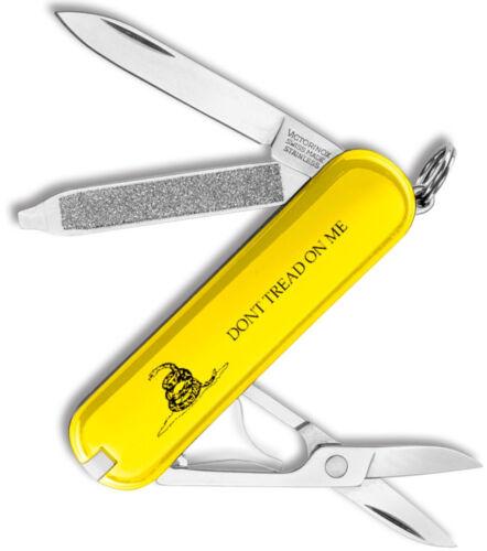 Victorinox Swiss Army Classic SD Gadsden Flag Yellow Don/'t Tread On Me 53076 NEW