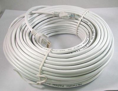 50FT 50 FT RJ45 CAT5 CAT5E Ethernet LAN Network Cable WHITE Brand New 15M