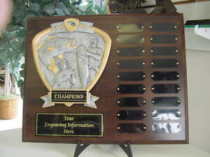 Details about FISHING PERPETUAL 18 YR PLAQUE TROPHY AWARD