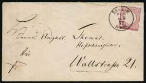 D.Reich BERLIN-Stempel KBHW 287 b, K1 P.E.6. auf Ortsbrief mit Nr. 4 (64304)