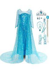 Frozen Princess Grils/' Elsa Anna Cosplay Costume Party Fancy Dress Elsa3#