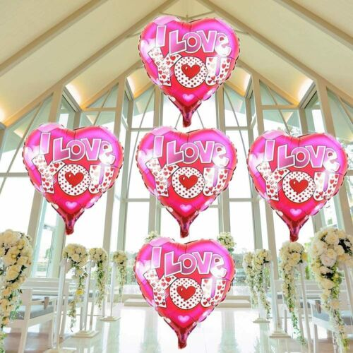 Heart Foil Balloons,i Love You Balloons,Engagement Wedding Party Decorations,10P