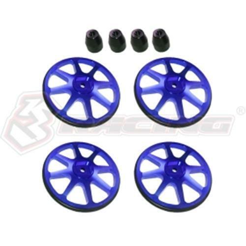 Details about  /3RACING ST-001 Setup Wheels 4 Pcs W// 4mm Lock Nuts 1 KIT USE 1//10 RC TOUGING CAR