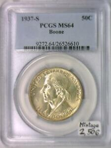 1937-S-Boone-Commemorative-Half-Dollar-PCGS-MS-64-Mintage-2-506