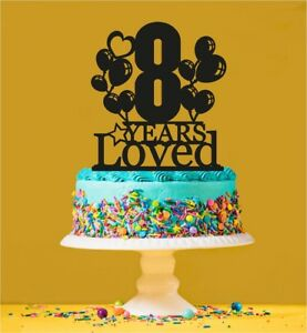 Fabulous 8Th Birthday Loved Cake Topper 8 Years Old Eighth Ebay Funny Birthday Cards Online Chimdamsfinfo