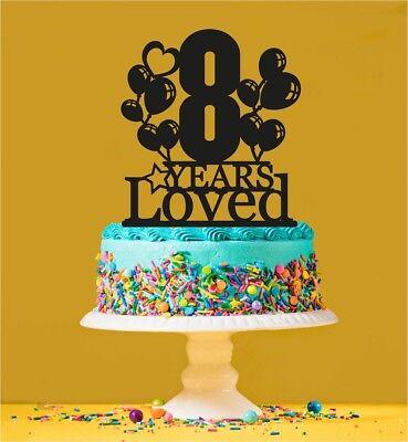 Stupendous 8Th Birthday Loved Cake Topper 8 Years Old Eighth Ebay Personalised Birthday Cards Veneteletsinfo