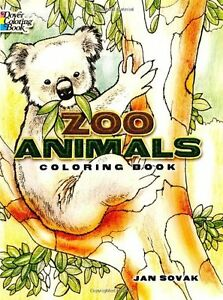 Details about Zoo Animals Coloring Book by Jan Sovak