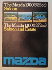 MAZDA 1000 & 1300 orig 1976 UK Mkt Sales Brochure