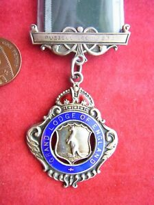 VINTAGE RAOB STERLING SILVER GLE JEWEL, RUSSELL LODGE #939. Bro. A. FULLER, 1919