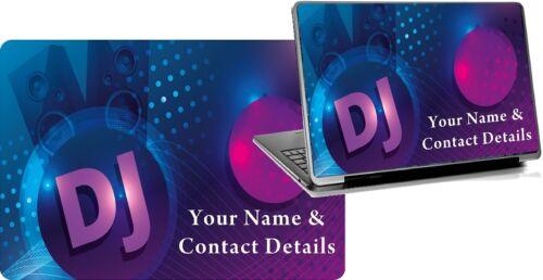 Laptop Skins DJ Disco Personnalisé Nom ajustement facile