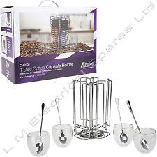 T-Disc Coffee Pod 52 Capsule Holder Stainless Steel For Bosch Tassimo + Glasses