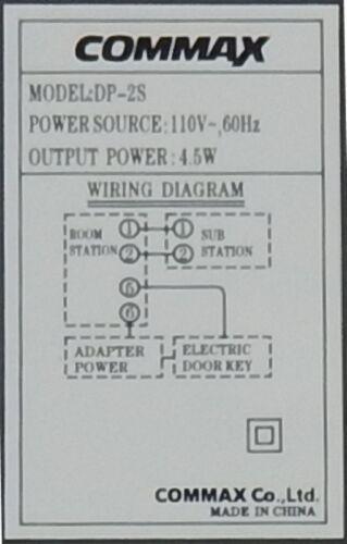 Audio Interphone Kit Dp2s Dr201d, Commax Interphone Wiring Diagram