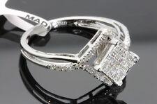 .31 CARAT WOMENS 100% GENUINE DIAMOND WHITE GOLD FINISH ENGAGEMENT WEDDING RING