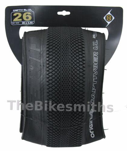 "Origin 8 CAPTIV 8er UL 26/""x 3.5/"" pliant Fat Bike Speed Street tire Captivator Vee"