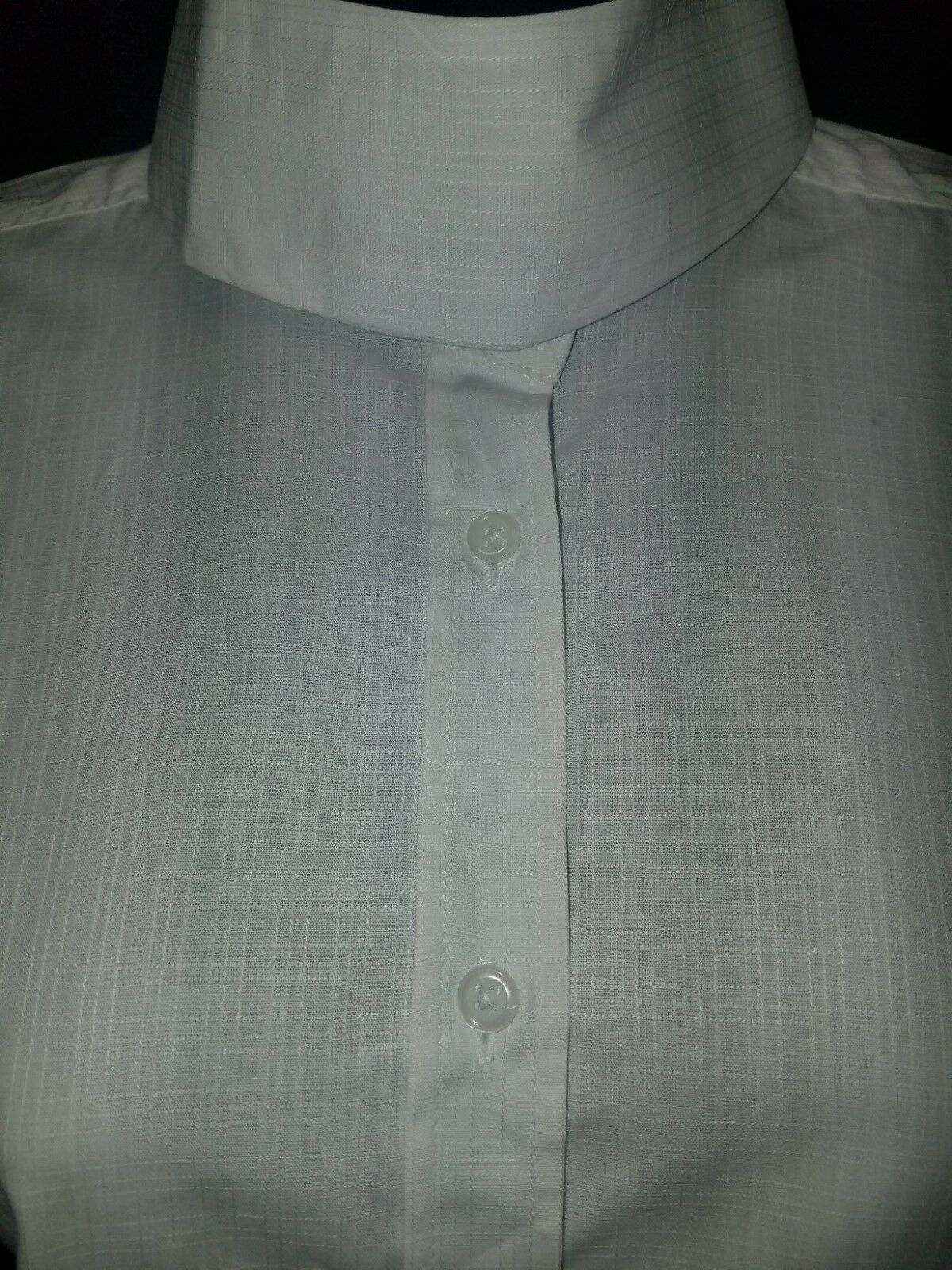 Ladies HUNT show SHIRT - WHITE-  NEW by RJ Classics traditional collar SIZE 50