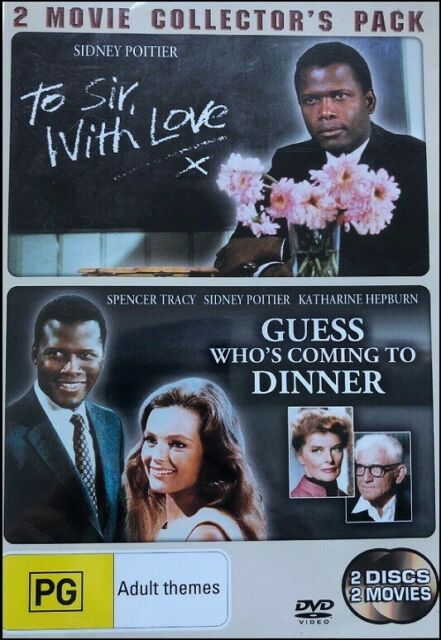 GUESS WHO'S COMING TO DINNER Sidney POITIER To Sir With Love (2 DVD SET) R4 Whos