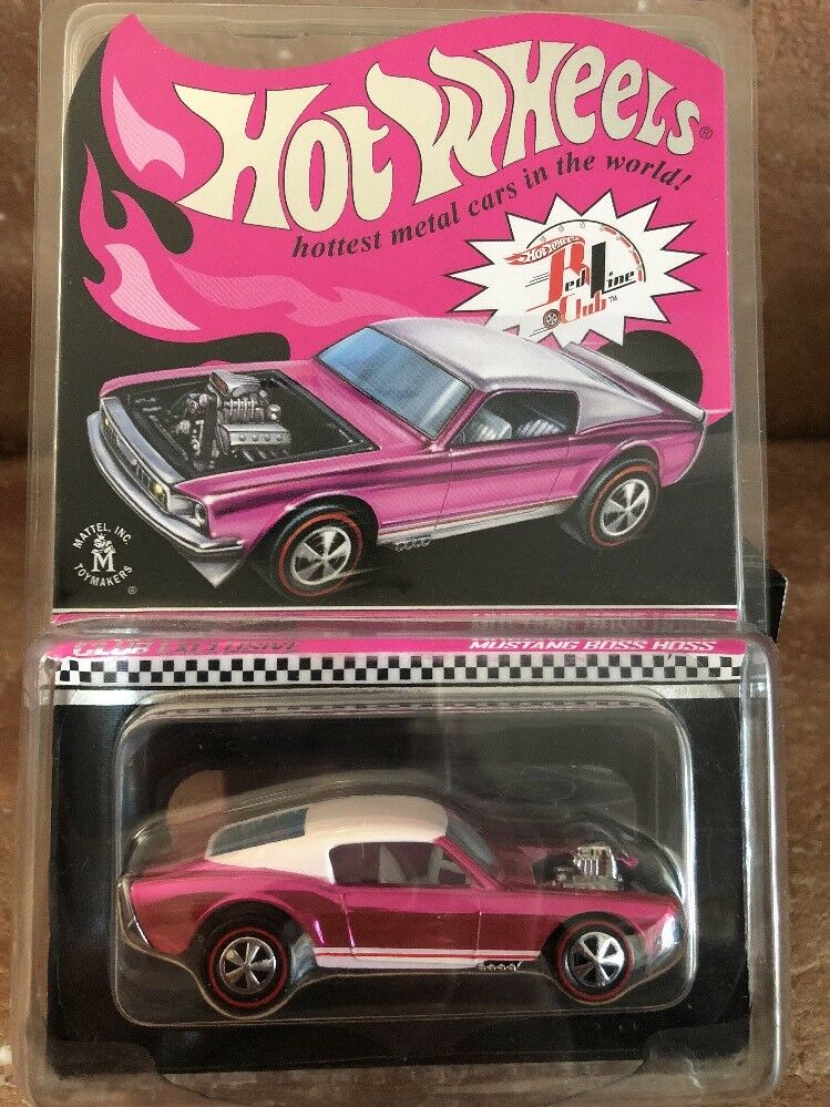 2017 Hot Wheels LAX 31st Convention RLC Pink Party CAR Mustang Boss Hoss EXCLUSI