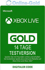 14 Tage Xbox Live Gold Mitgliedschaft Code Testversion Xbox One 360 Key 14 Days