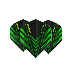 Winmau Flight 1Set = 3Stück Prism 1.0-6915.002 Black Green Dart Fly