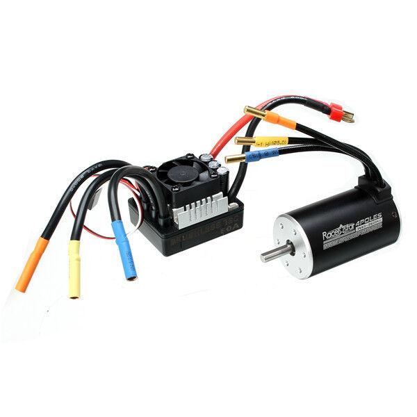 Racerestrella 3660 3660 3660 Brushless Waterproof Sensorless Motor 80A ESC For 1 8 1 10 Short 2e7d7a