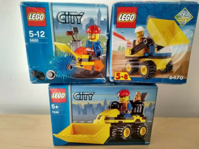 LEGO City Construction Mini Digger sets + Street Cleaner 7246 5620 6470 DENMARK