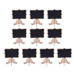 10-StueCk-Mini-Holz-Kleine-Hochzeit-Tafel-Nachricht-Tischnummer-Tafel-X9U2