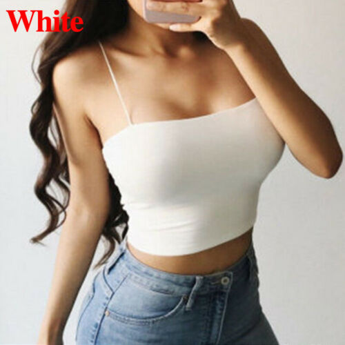 6 Colors Bustier Tube Crop Top Bodycon Tank Tops Wrapped Chest Sling Vest Bra