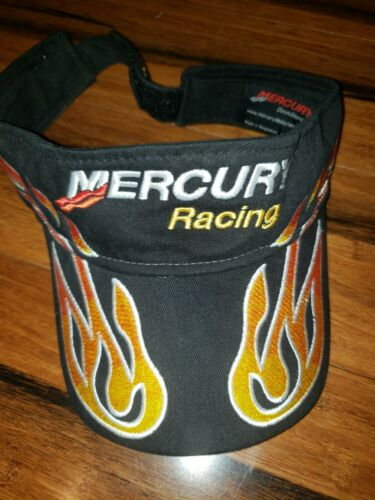 Flames Mercury Marine Outboard Adjustable Visor Hat Racing Fishing Pro Team