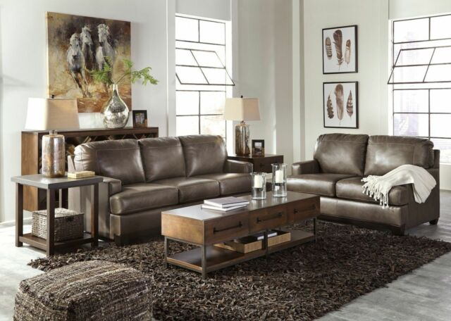 Frequently Bought Together Ashley Furniture Derwood Leather Sofa And Loveseat