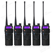 USA Stock 5pcs Black BaoFeng UV-5R 2 Way Ham Radio+3800mah Battery Walkie Talkie