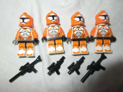 Clone bomb squad trooper minifig 4x lego Star Wars Minifigure